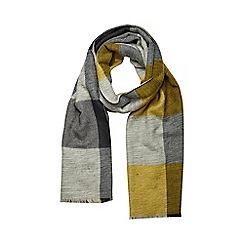 Dorothy Perkins - Lime grey stripe scarf