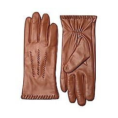 Dorothy Perkins - Tan whipstitch leather gloves