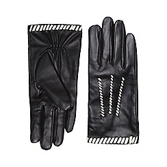 Dorothy Perkins - Mono leather whipstitch gloves
