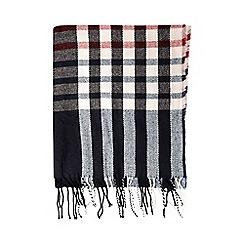 Dorothy Perkins - Wine stripe check scarf