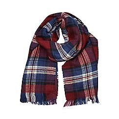 Dorothy Perkins - Double sided wine check scarf