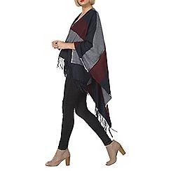 Dorothy Perkins - Navy and wine stripe wrap