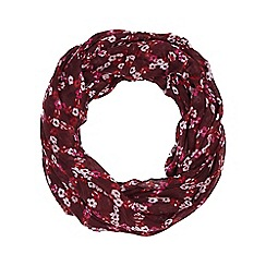 Dorothy Perkins - Wine floral check snood