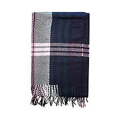 Dorothy Perkins - Blue and pink tartan scarf