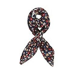 Dorothy Perkins - Black ditsy daisy square scarf