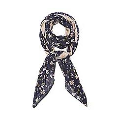 Dorothy Perkins - Blue ditsy daisy square scarf