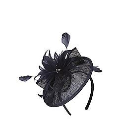Dorothy Perkins - Navy disk flower fascinator