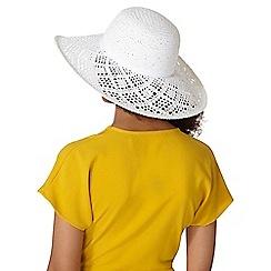Dorothy Perkins - White lead floppy hat