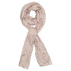Dorothy Perkins - Pink foil confetti heart scarf