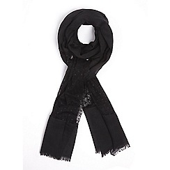 Dorothy Perkins - Black spotted mesh scarf
