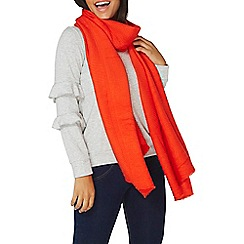 Dorothy Perkins - Red pleated scarf