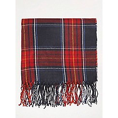 Dorothy Perkins - Navy and red tartan checked scarf