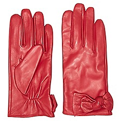 Dorothy Perkins - Red ruched leather knot gloves