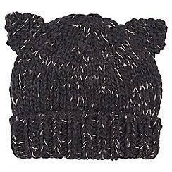 Dorothy Perkins - Charcoal cat ears beanie hat