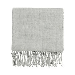 Dorothy Perkins - Grey fluffy plain scarf