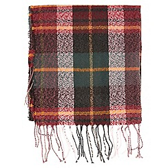 Dorothy Perkins - Red woodland check print scarf
