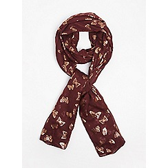 Dorothy Perkins - Foil butterfly print scarf