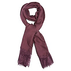 Dorothy Perkins - Wine lace cut and sew scarf