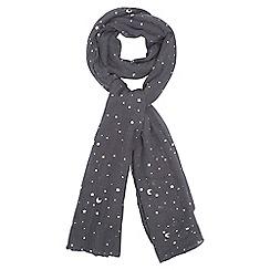 Dorothy Perkins - Grey star foil print scarf