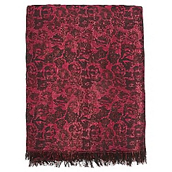 Dorothy Perkins - Red leopard print jacquard scarf