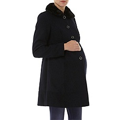 Dorothy Perkins - Maternity navy formal coat