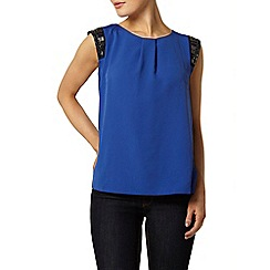 Dorothy Perkins - Billie black label cobalt blue embellished blouse