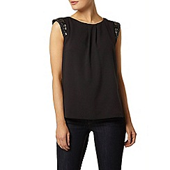 Dorothy Perkins - Billie black label black embellished blouse