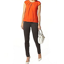 Dorothy Perkins - Billie and blossom coral button back shell top