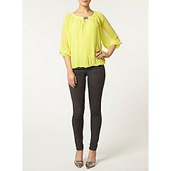 Dorothy Perkins - Billie and blossom lime trim blouse
