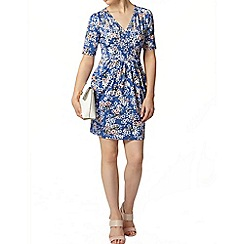 Dorothy Perkins - Billie petites blue butterfly jersey dress
