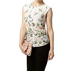Dorothy Perkins - Billie petites cream floral border shell top