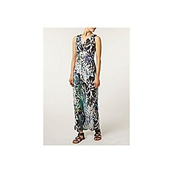 Dorothy Perkins - Billie and blossom: purple palm print maxi dress