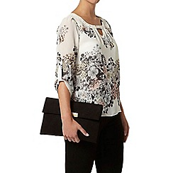 Dorothy Perkins - Billie petites white/pink floral blouse