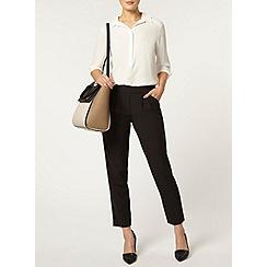 Dorothy Perkins - Luxe:black fold pocket trouser