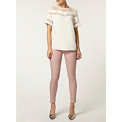 Dorothy Perkins - Luxe cream lace insert blouse
