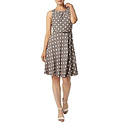 Dorothy Perkins - Billie & blossom: grey sleeveless spot dress