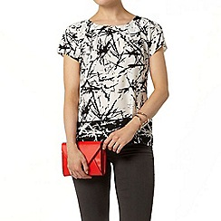 Dorothy Perkins - Billie black label mono short sleeve shell top