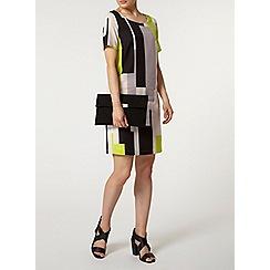 Dorothy Perkins - Billie black label multicolour block shift dress