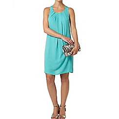Dorothy Perkins - Billie petites green bow back dress