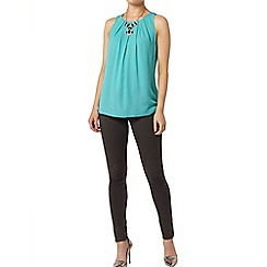 Dorothy Perkins - Billie & blossom: green bow back shell top