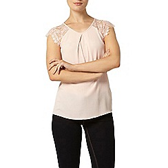 Dorothy Perkins - Billie and blossom blush pink crochet lace sleeve shell top