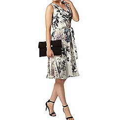Dorothy Perkins - Billie & blossom: grey floral cowl neck dress