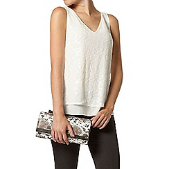 Dorothy Perkins - Luxe white sequin vest