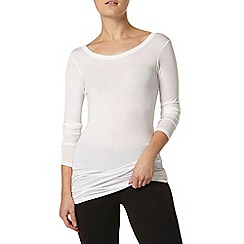 Dorothy Perkins - Dp lounge white long sleeve longline top