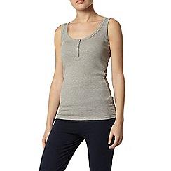 Dorothy Perkins - Dp lounge grey pointelle vest top