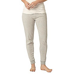 Dorothy Perkins - Dp lounge grey stripe relax pant