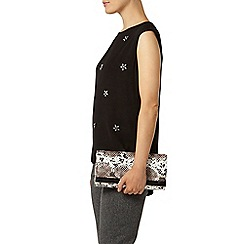 Dorothy Perkins - Luxe black embellished shell top