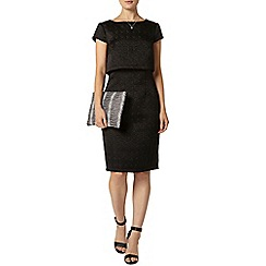 Dorothy Perkins - Luxe black textured overlay dress