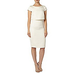 Dorothy Perkins - Luxe white textured overlay dress
