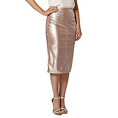 Dorothy Perkins - Luxe pink pu shimmer skirt